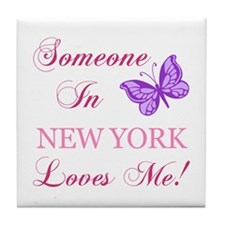 New York State (Butterfly) Tile Coaster