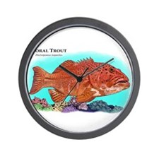 Coral Trout Wall Clock