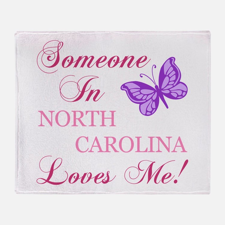 North Carolina State (Butterfly) Throw Blanket