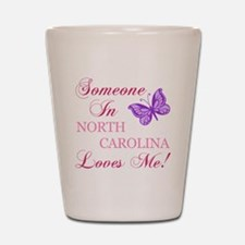 North Carolina State (Butterfly) Shot Glass