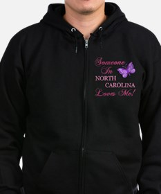 North Carolina State (Butterfly) Zip Hoodie