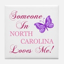 North Carolina State (Butterfly) Tile Coaster