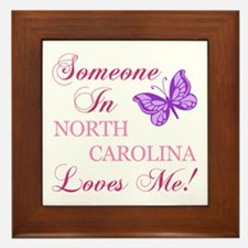 North Carolina State (Butterfly) Framed Tile