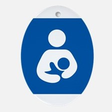 Breastfeeding Symbol Ornament (Oval)