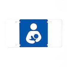 Breastfeeding Symbol Aluminum License Plate