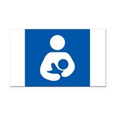 Breastfeeding Symbol Rectangle Car Magnet