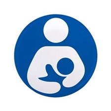 "Breastfeeding Symbol 3.5"" Button (100 pack)"