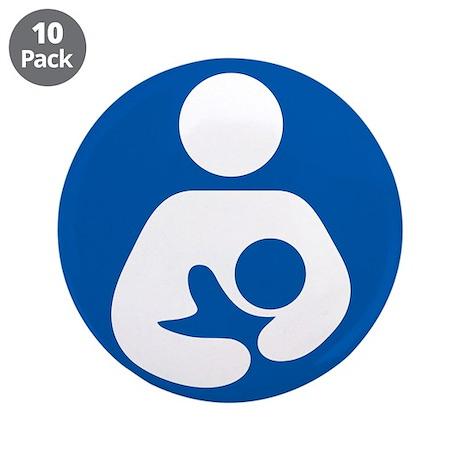 "Breastfeeding Symbol 3.5"" Button (10 pack)"