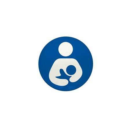 Breastfeeding Symbol Mini Button