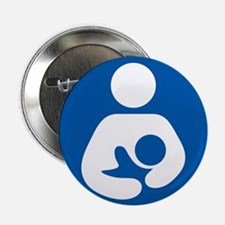 "Breastfeeding Symbol 2.25"" Button (100 pack)"