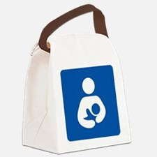 Breastfeeding Symbol Canvas Lunch Bag