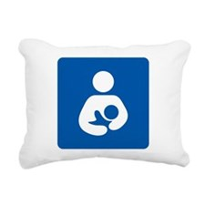 Breastfeeding Symbol Rectangular Canvas Pillow