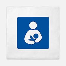 Breastfeeding Symbol Queen Duvet