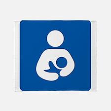 Breastfeeding Symbol Throw Blanket