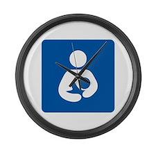 Breastfeeding Symbol Large Wall Clock