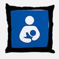 Breastfeeding Symbol Throw Pillow