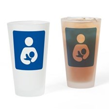 Breastfeeding Symbol Drinking Glass