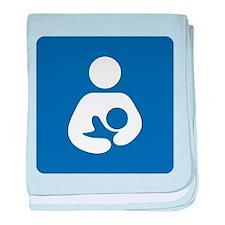 Breastfeeding Symbol baby blanket