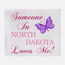 North Dakota State (Butterfly) Throw Blanket