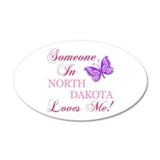 North Dakota State (Butterfly) Wall Decal