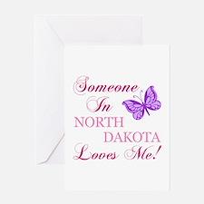 North Dakota State (Butterfly) Greeting Card