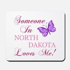 North Dakota State (Butterfly) Mousepad