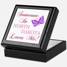 North Dakota State (Butterfly) Keepsake Box
