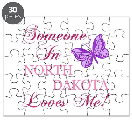 North Dakota State (Butterfly) Puzzle