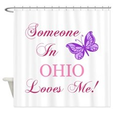 Ohio State (Butterfly) Shower Curtain