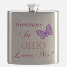 Ohio State (Butterfly) Flask