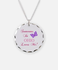 Ohio State (Butterfly) Necklace