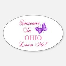 Ohio State (Butterfly) Sticker (Oval)