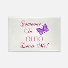 Ohio State (Butterfly) Rectangle Magnet (100 pack)