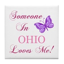 Ohio State (Butterfly) Tile Coaster
