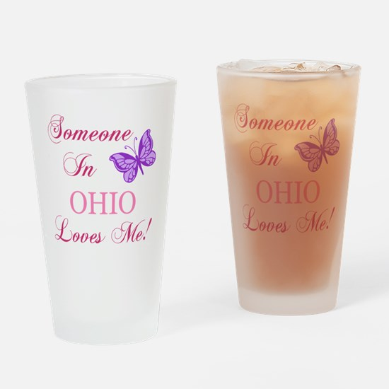 Ohio State (Butterfly) Drinking Glass