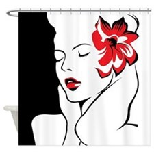 Glamorous Woman Shower Curtain