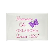 Oklahoma State (Butterfly) Rectangle Magnet (10 pa