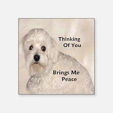 """Maltese Peace Square Sticker 3"""" x 3"""""""