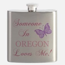 Oregon State (Butterfly) Flask