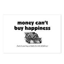 Money Can't Buy Happiness - F Postcards (Package o