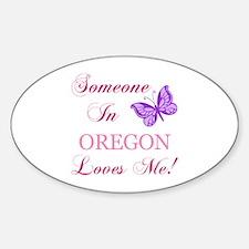Oregon State (Butterfly) Sticker (Oval)