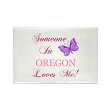 Oregon State (Butterfly) Rectangle Magnet