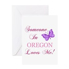 Oregon State (Butterfly) Greeting Card