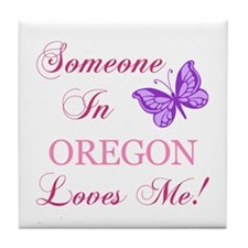 Oregon State (Butterfly) Tile Coaster