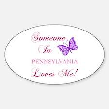 Pennsylvania State (Butterfly) Sticker (Oval)