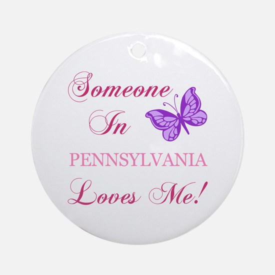 Pennsylvania State (Butterfly) Ornament (Round)