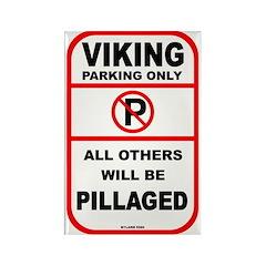 Viking Parking Rectangle Magnet