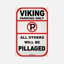 Viking Parking Rectangle Magnet