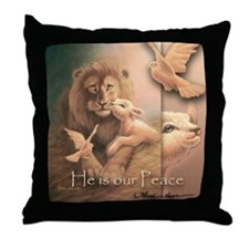 """He is our Peace"" Christian Fine Art Pillow"