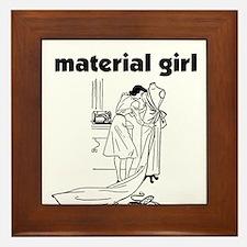 Material Girl - Sewing Framed Tile